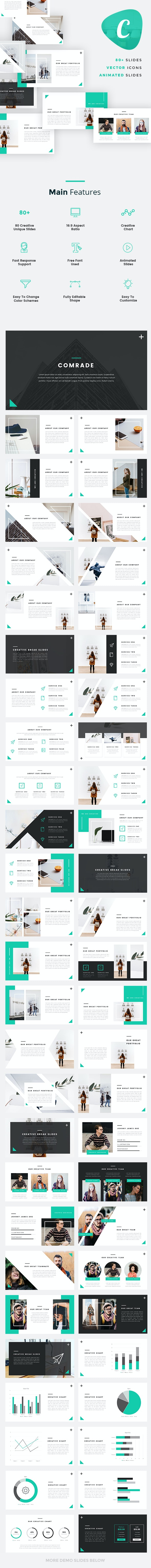 Comrade - Creative Keynote Template - Creative Keynote Templates