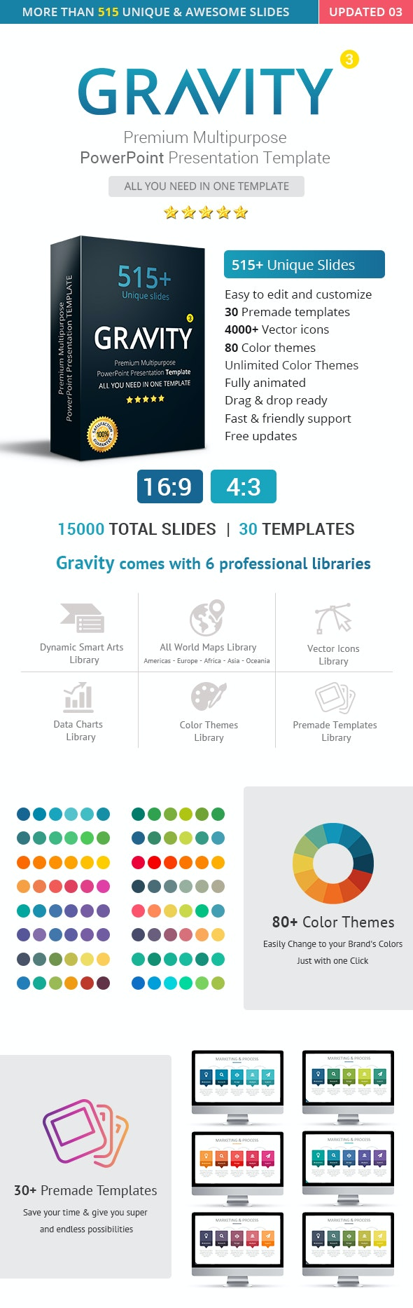 Gravity PowerPoint Presentation Template - PowerPoint Templates Presentation Templates