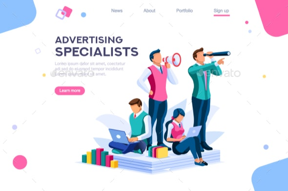 Strategy and Analysis Landing Page - Vectors