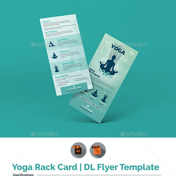 Yoga Rack Card | DL Flyer Template