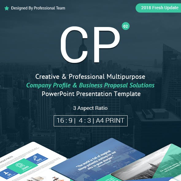 Multipurpose Company Profile and Proposal PowerPoint Presentation Template