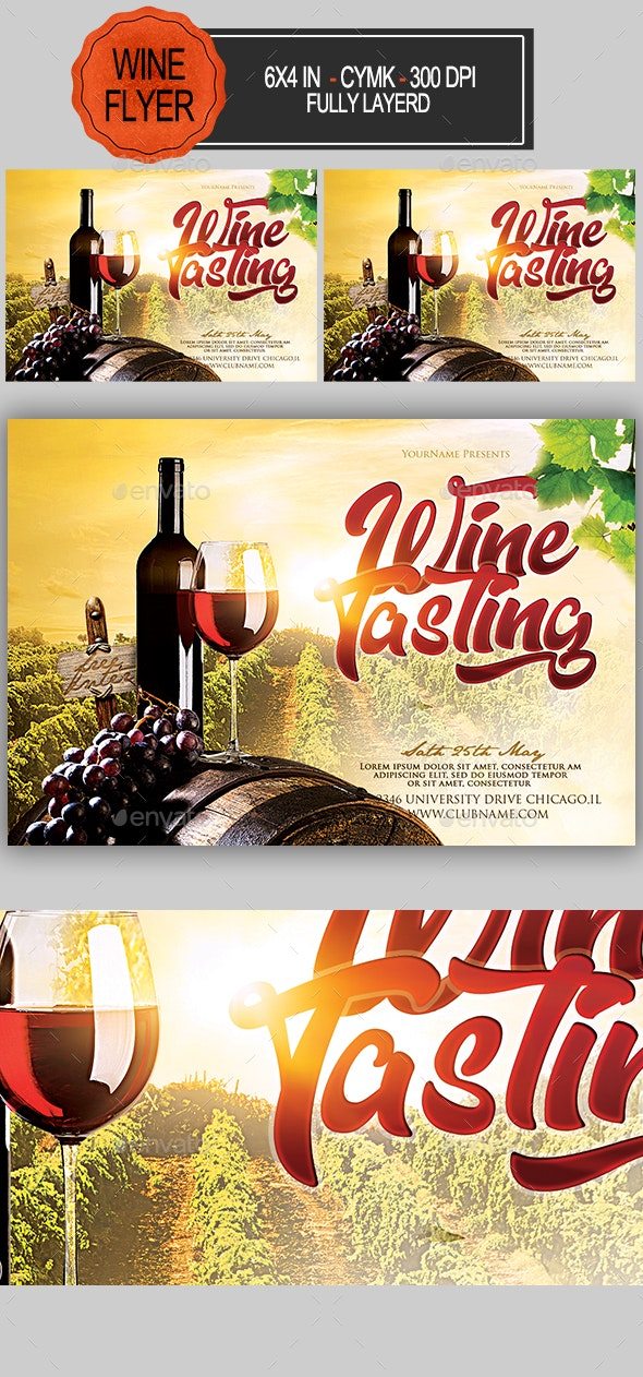 Wine Tasting Flyer - Clubs & Parties Events