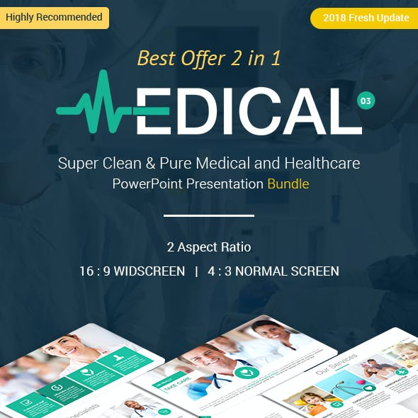 2 In 1 Medical and Healthcare PowerPoint Presentation Bundle