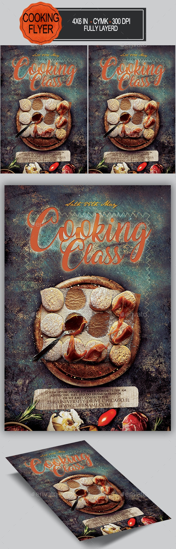 Cooking Classes Flyer - Restaurant Flyers