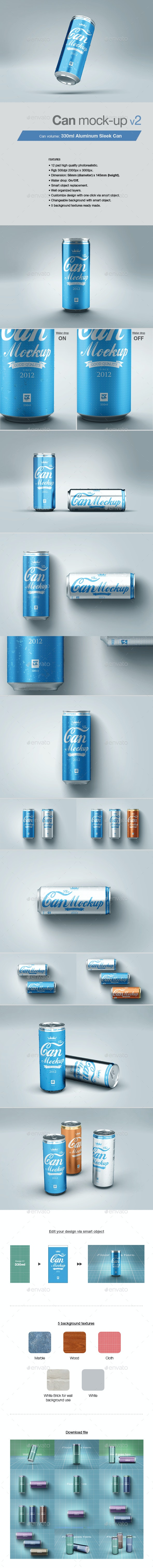 Can Mock-up v2 - Food and Drink Packaging