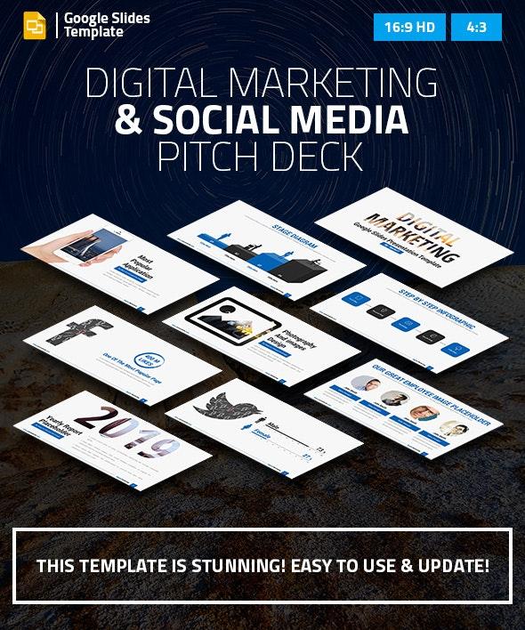 Digital Marketing and Social Media Google Slides Pitch Deck - Google Slides Presentation Templates