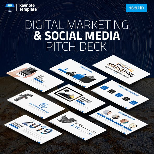 Digital Marketing and Social Media Keynote Pitch Deck
