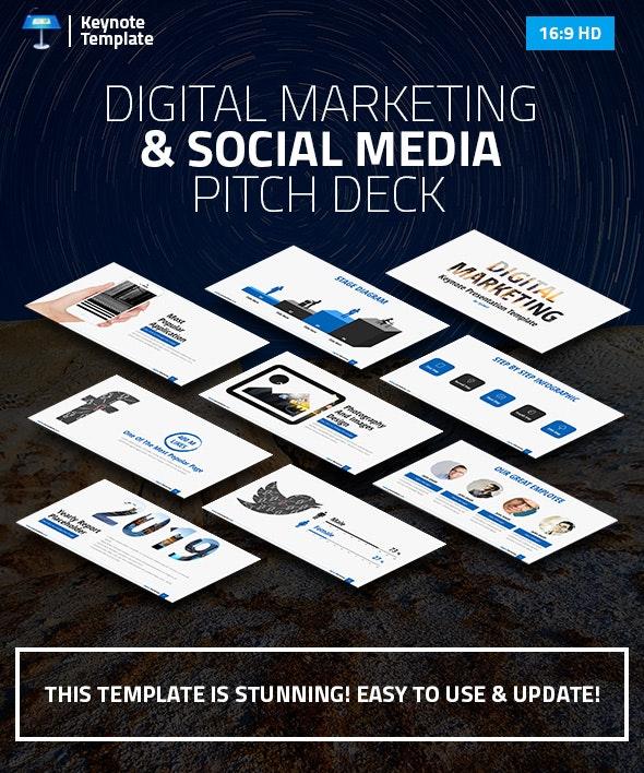 Digital Marketing and Social Media Keynote Pitch Deck - Business Keynote Templates