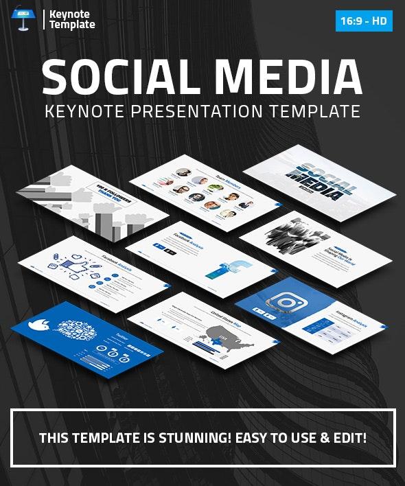 Social Media Marketing Keynote Pitch Deck - Business Keynote Templates