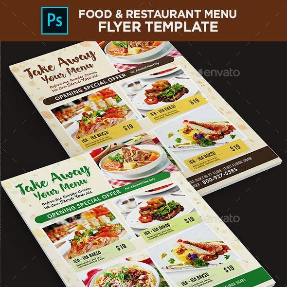 Restaurant Flyer - Food Menu Flyer