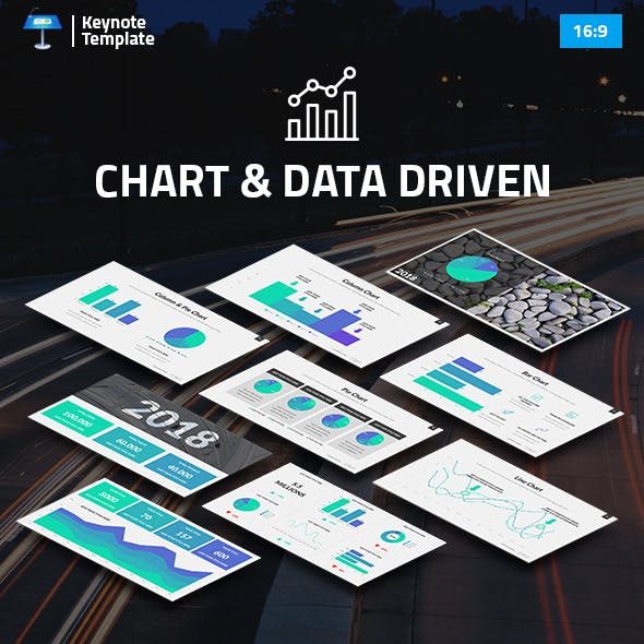 Charts and Data Driven Keynote Pitch Deck