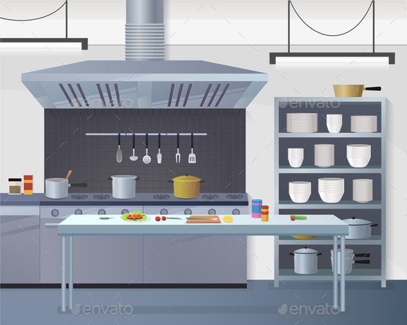 Culinary Concept Illustration Restaurant Business - Food Objects