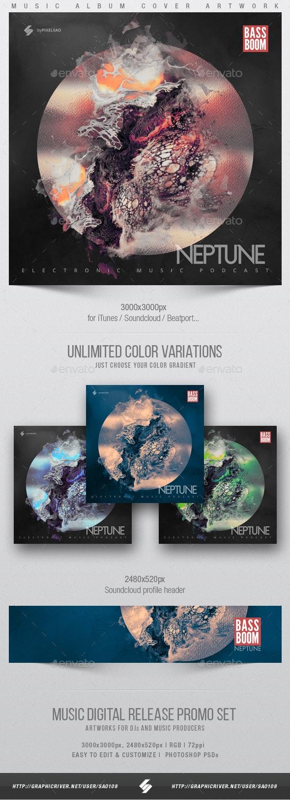Neptune - Music Album Cover Artwork Template - Miscellaneous Social Media