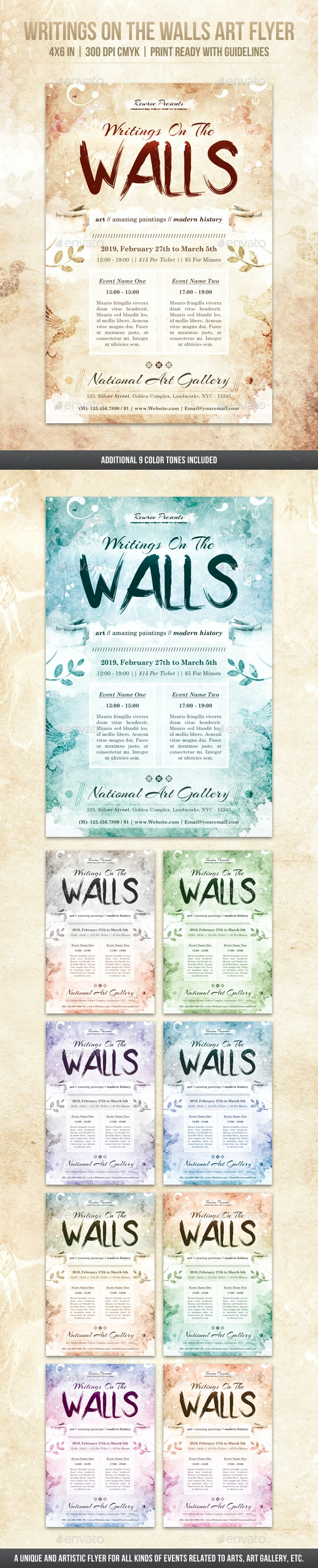 Writings On The Walls Art Flyer - Miscellaneous Events