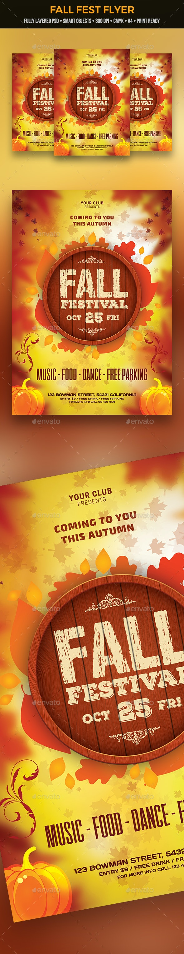 Fall Fest Flyer - Clubs & Parties Events