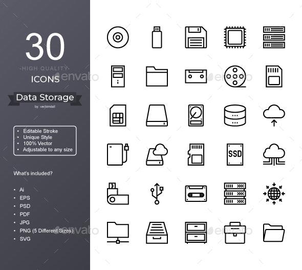 Data Storage - Icons