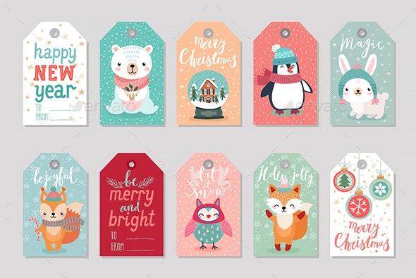 Christmas Gift Tags Set - Christmas Seasons/Holidays