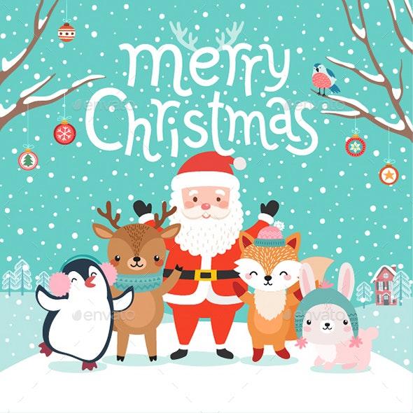 Characters Hugging - Christmas Seasons/Holidays