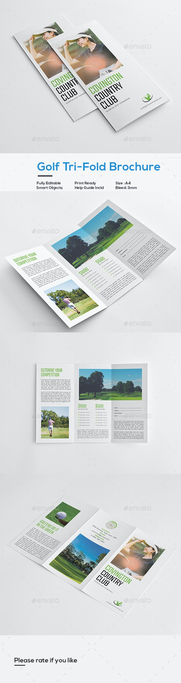 Golf Event Trifold Brochure - Corporate Brochures