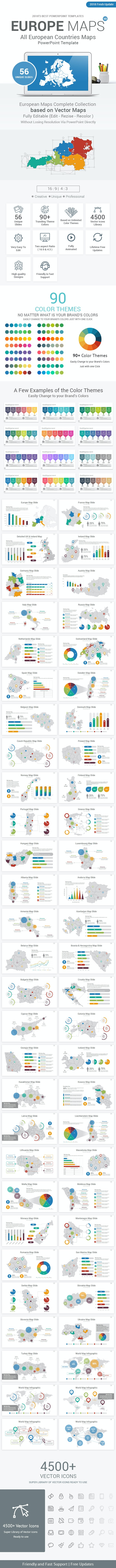 Europe Maps PowerPoint Presentation Template - Business PowerPoint Templates