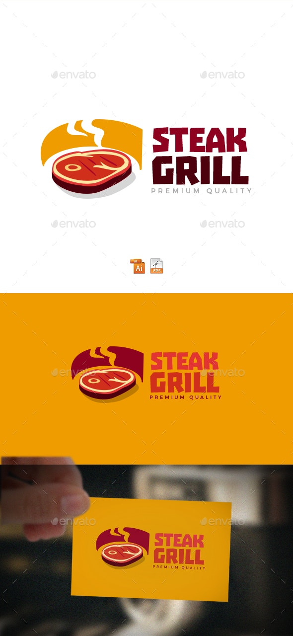 Steak Grill Logo - Food Logo Templates
