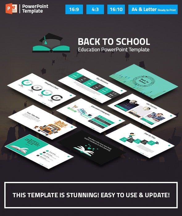 Education and Learning PowerPoint Presentation Template - Business PowerPoint Templates