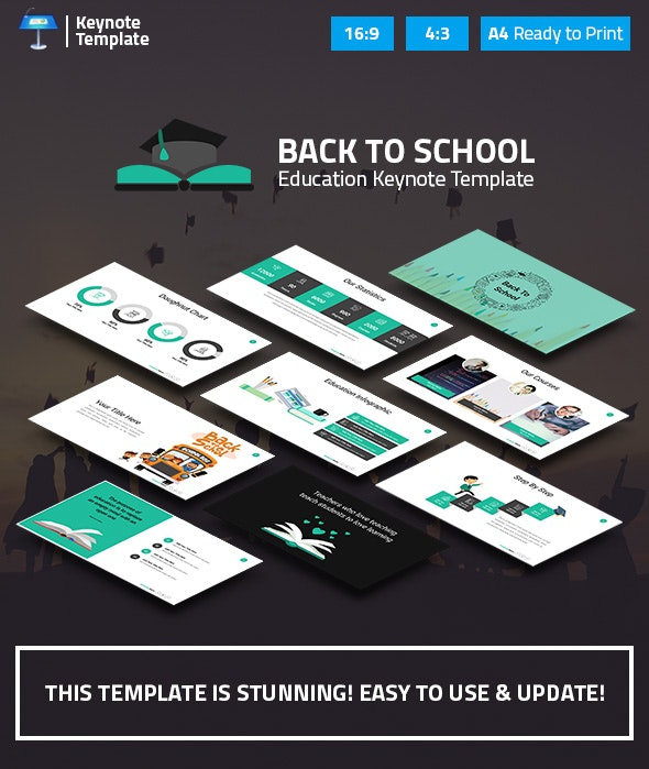 Education and Learning Keynote Presentation Template - Business Keynote Templates