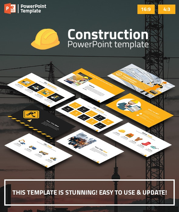 Construction PowerPoint Presentation Template - Business PowerPoint Templates