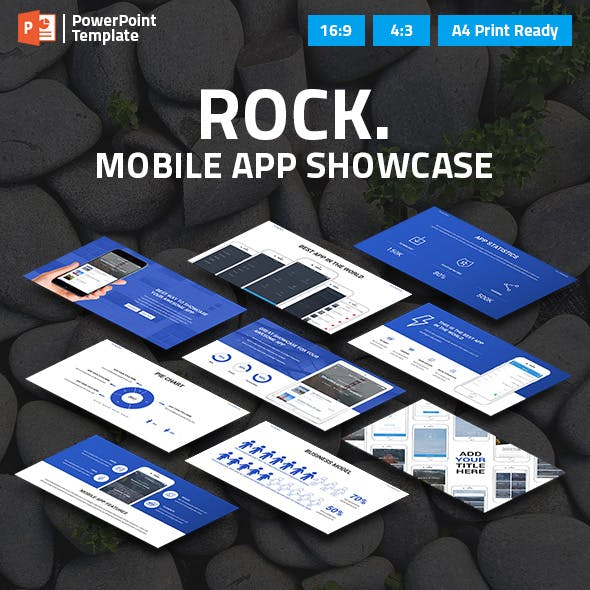 Mobile App Showcase PPT Pitch Deck