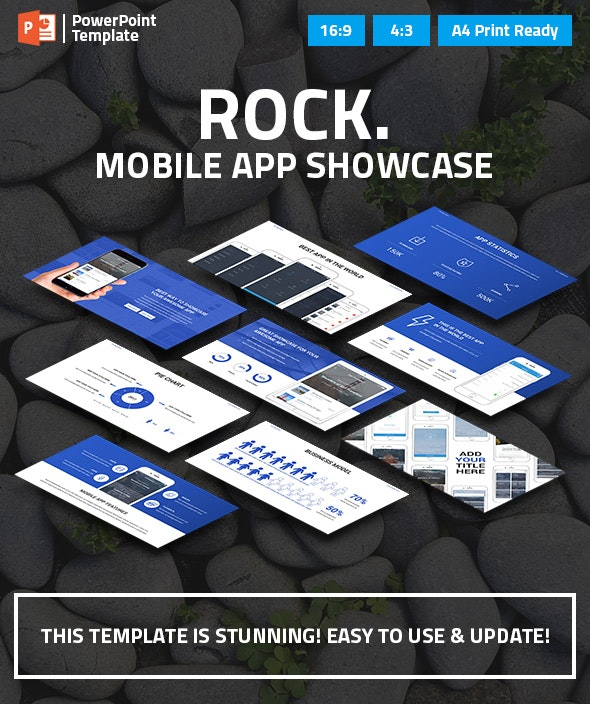 Mobile App Showcase PPT Pitch Deck - Business PowerPoint Templates