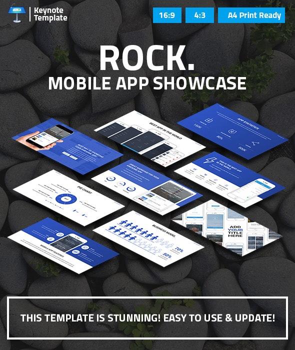 Mobile App Showcase Keynote Pitch Deck - Business Keynote Templates