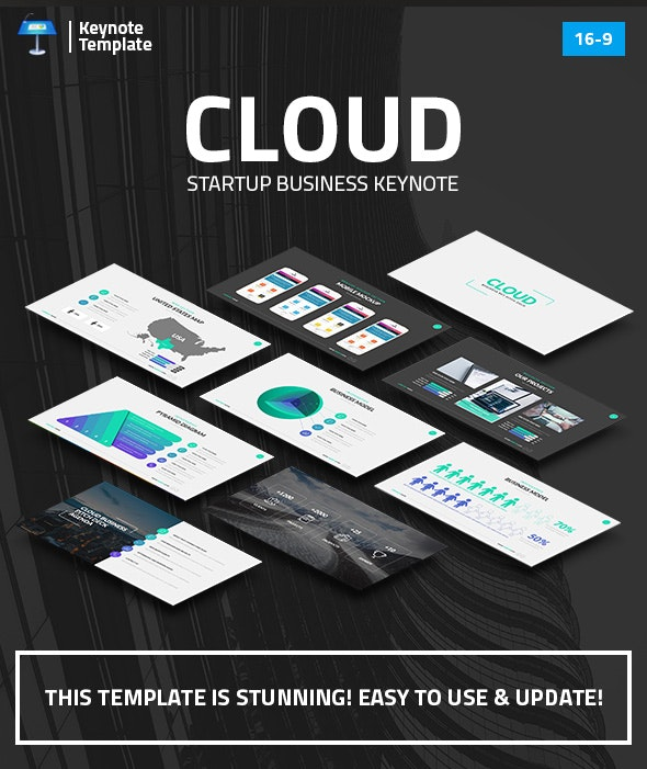 Cloud - Startup Business Keynote Pitch Deck - Business Keynote Templates