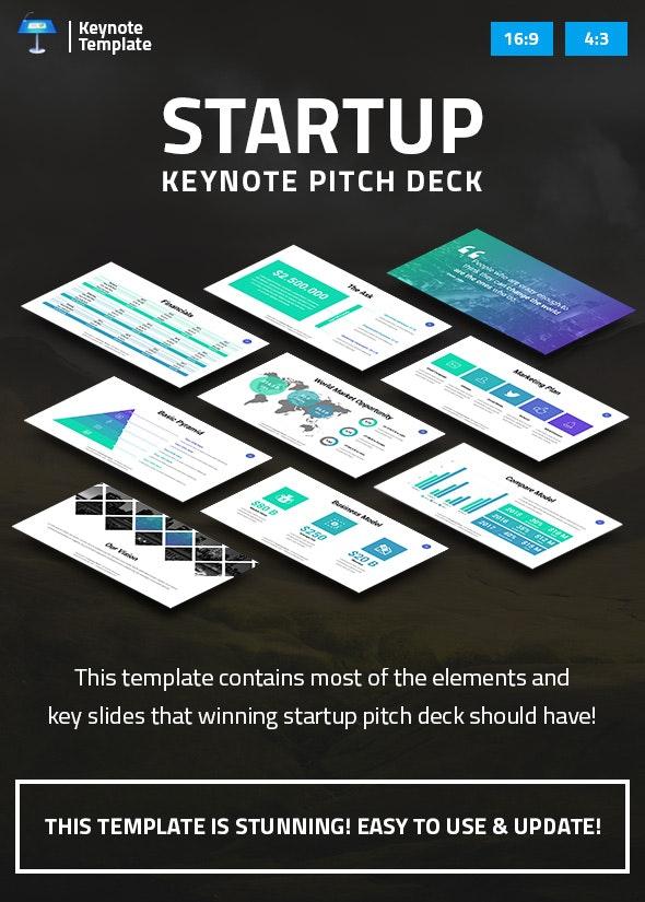Startup Business Keynote Pitch Deck - Business Keynote Templates