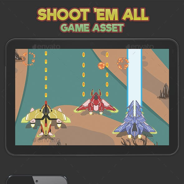 2D Plane Shooter Game Asset