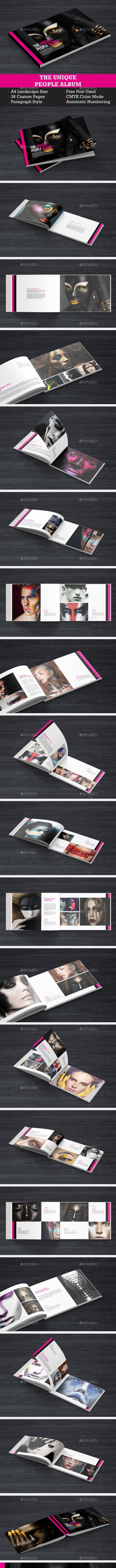 Unique Look Book - Magazines Print Templates