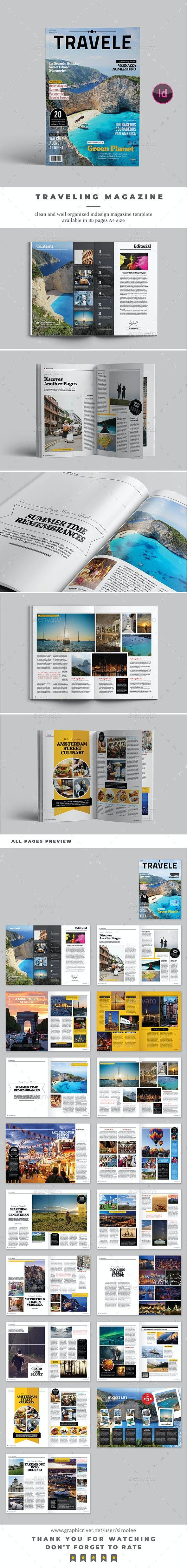 Traveling Magazine Template - Magazines Print Templates