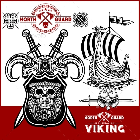 Viking Warrior with Axes - Miscellaneous Vectors