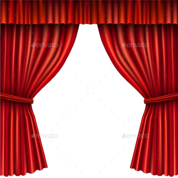 Red Stage Curtain - Miscellaneous Vectors