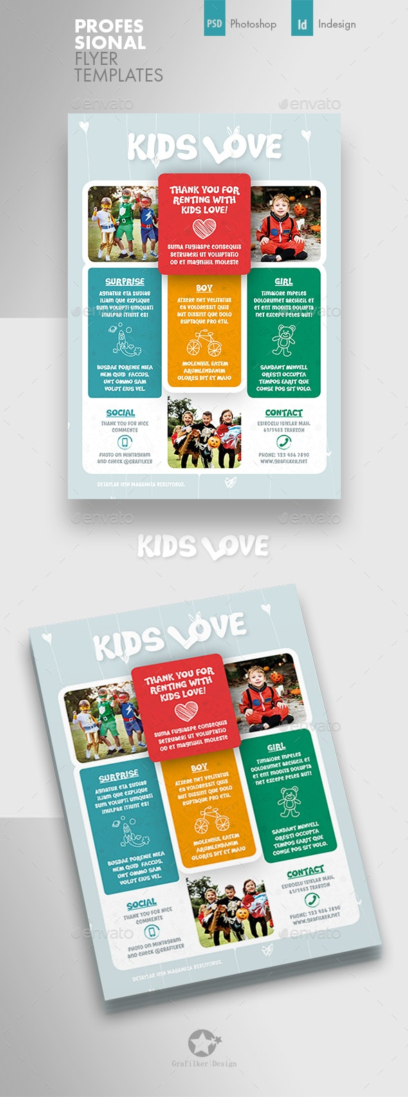Kids Shopping Flyer Templates - Corporate Flyers