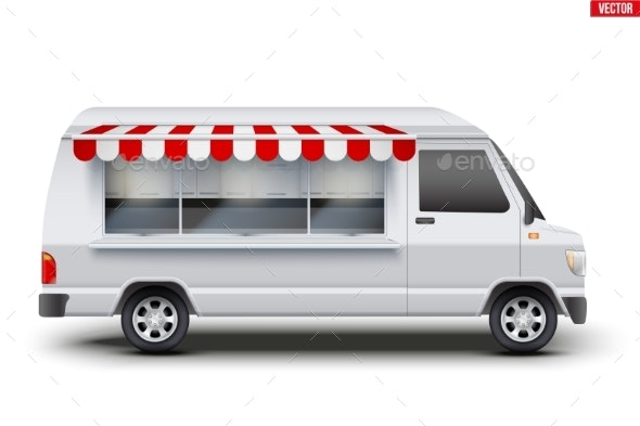 Modern Food Truck - Man-made Objects Objects