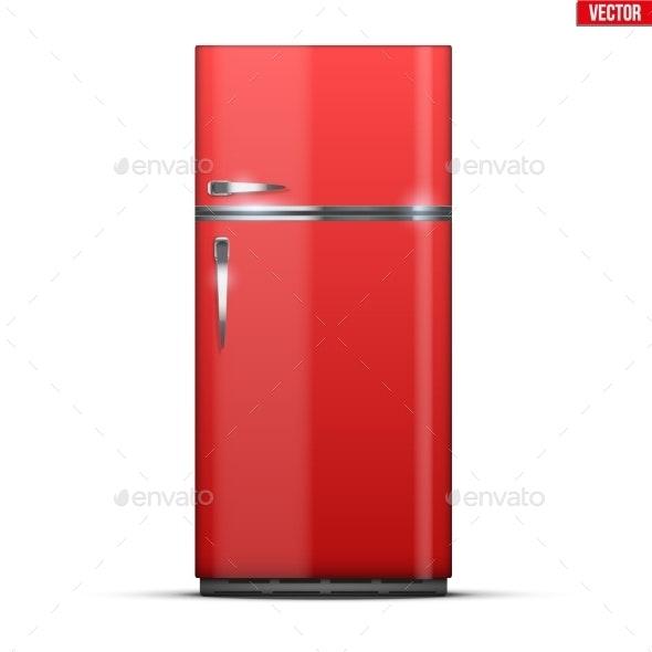 Modern Fridge Freezer Refrigerator - Man-made Objects Objects