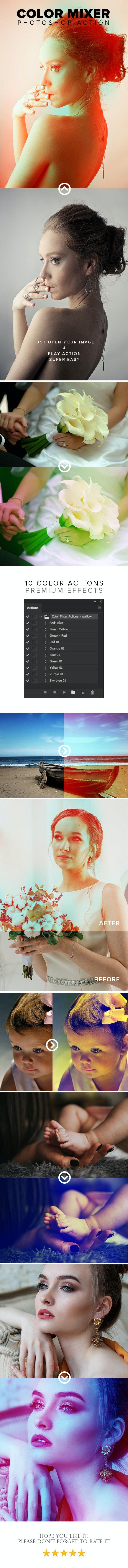 Color Mixer Photoshop Action - Actions Photoshop
