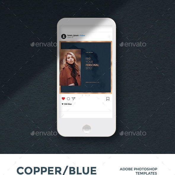Copper/Blue - Instagram Pack