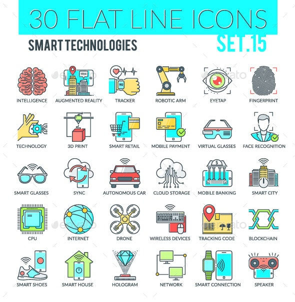 Smart Technologies Icons - Technology Icons
