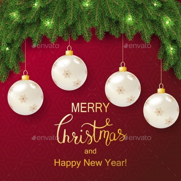 Holiday Vector Lettering Background - Christmas Seasons/Holidays