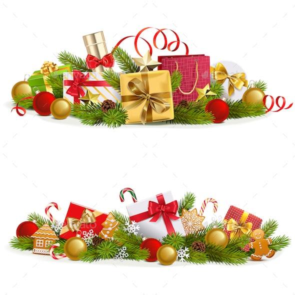 Vector Christmas Concept with Gifts - Christmas Seasons/Holidays