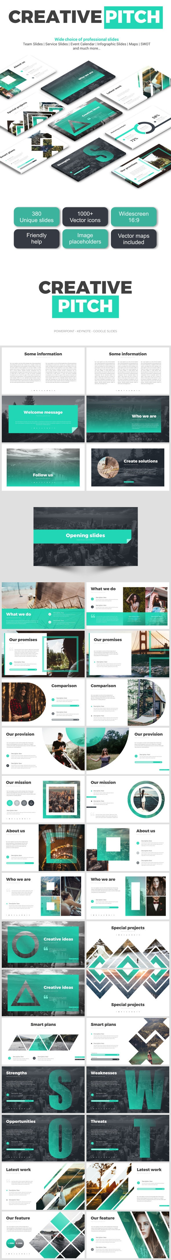 Creative Pitch Deck - Google Slides Presentation Templates