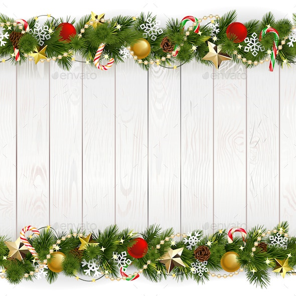 Vector Christmas Background with Golden Stars - Christmas Seasons/Holidays