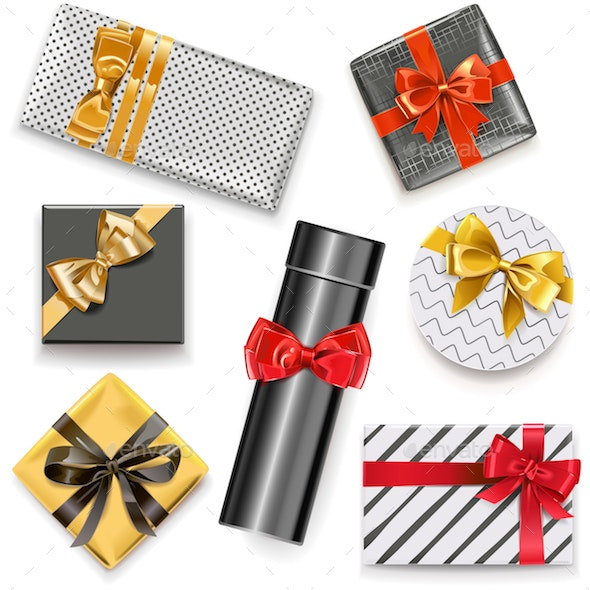 Vector Gift Boxes Icons - Miscellaneous Vectors