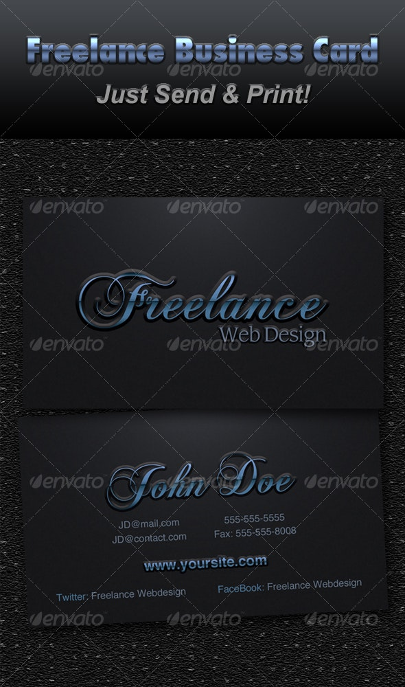FreeLance Business Card - Corporate Business Cards